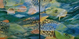 Oil painting of fish